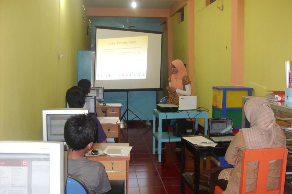 workshop animasi di Rumah Pintar Kembar Klaten