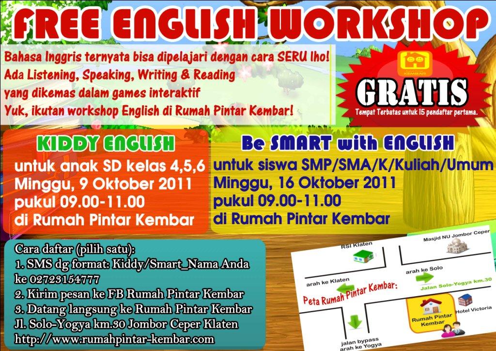 FREE ENGLISH WORKSHOP in Klaten