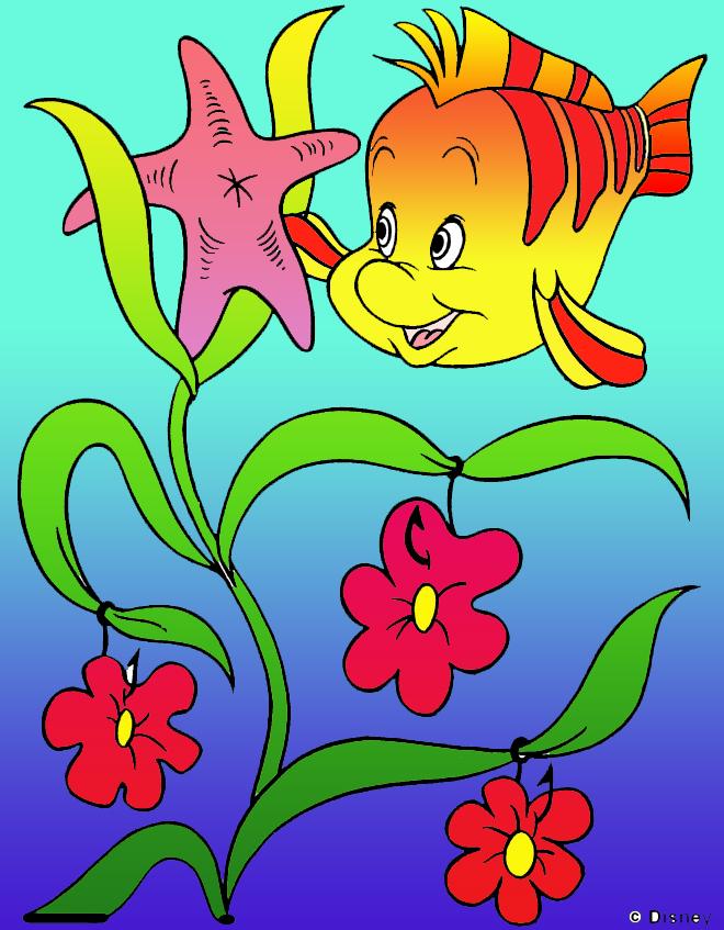 Hasil Mewarnai Photoshop Gambar Ikan