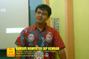 workshop optimasi web - alumni Kursus ITPRENEUR - LKP KEMBAR Klaten