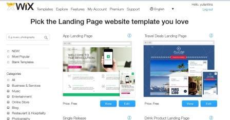 cara membuat website dengan wix 2