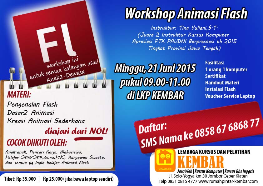 workshop animasi flash - kursus komputer animasi klaten