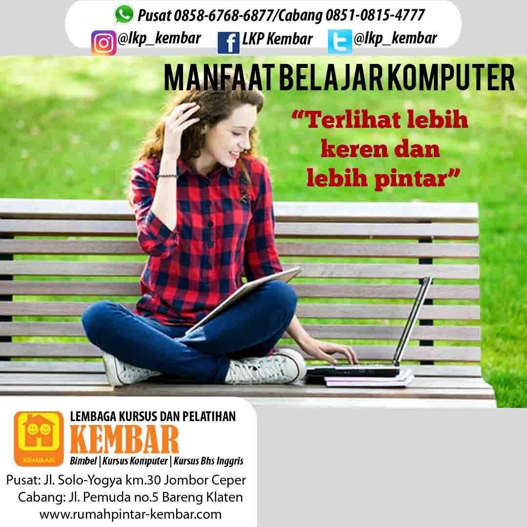 Manfaat belajar komputer | Kursus Komputer, Kursus Bahasa Inggris, Bimbel, Les Baca Hitung Jl ...