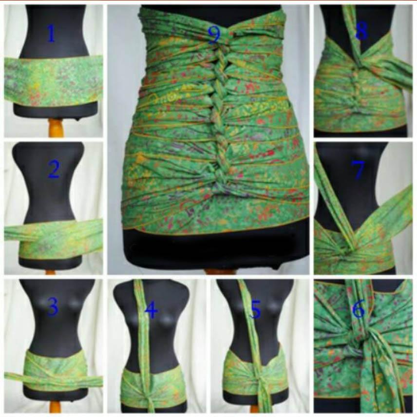 cara memakai bengkung andien - bengkung belly binding