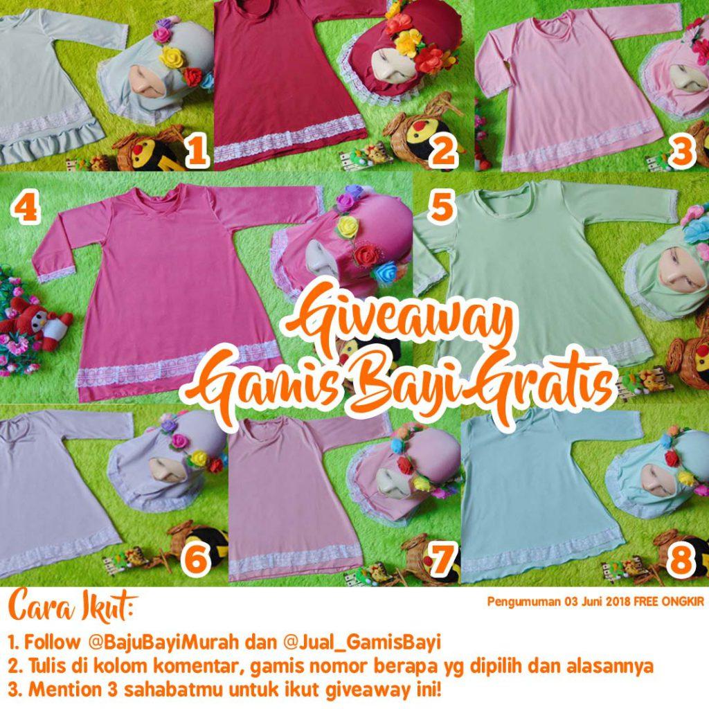 giveaway gamis bayi gratis copy