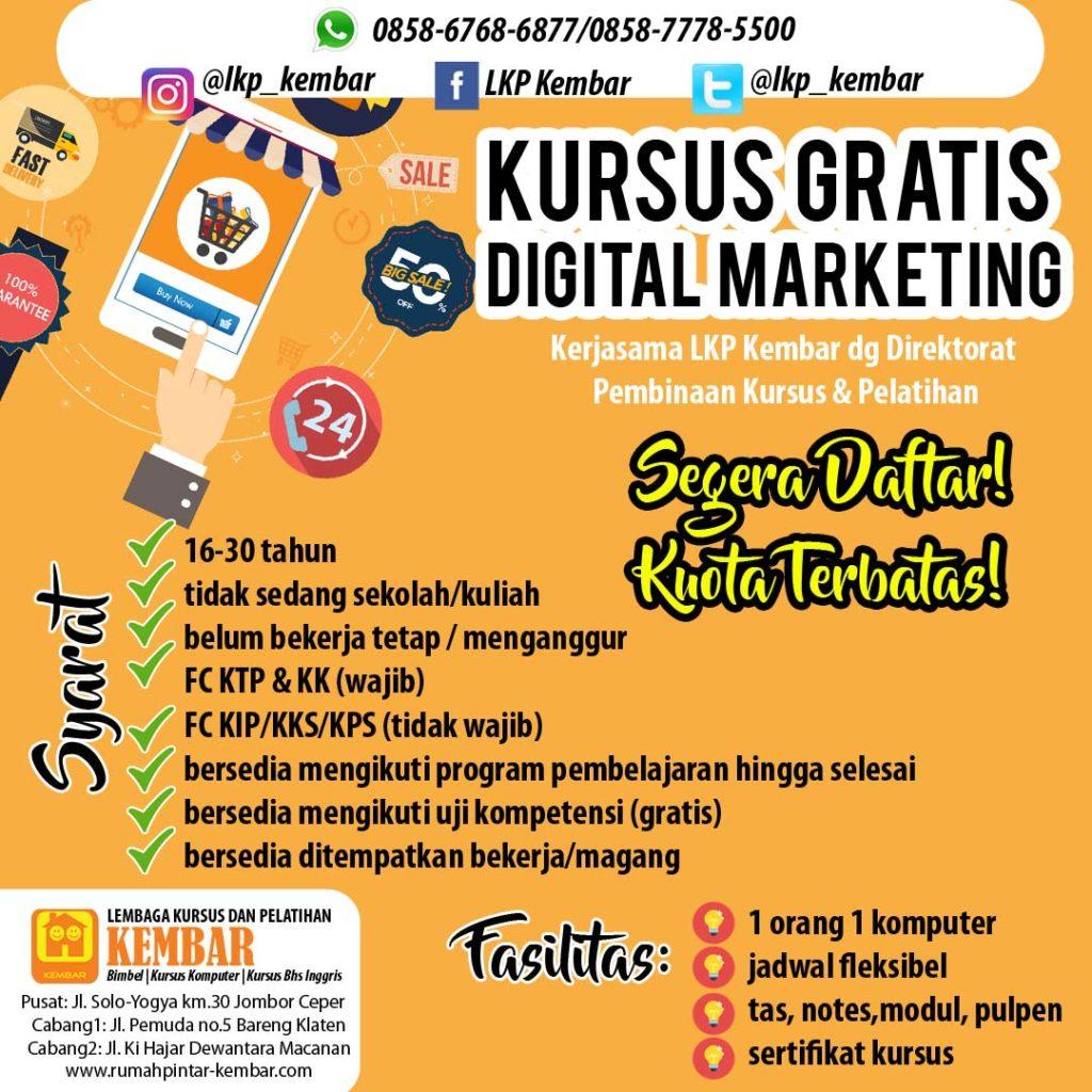 kursus digital marketing gratis