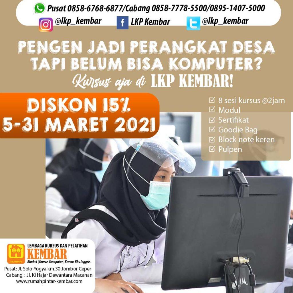 PROMO OFFICE 2021 - kursus komputer perangkat desa